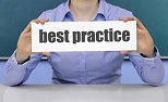 shows person holding best practice sign